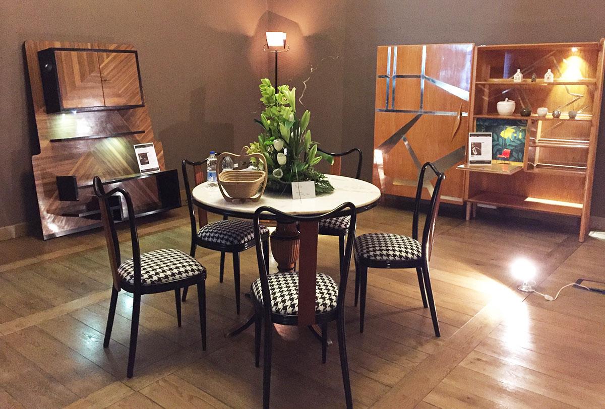 Anni 70 Arredamento table with chairs - controvena restauro e arredo design